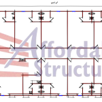 Nine Classroom School Building Floor Plan 294-10768