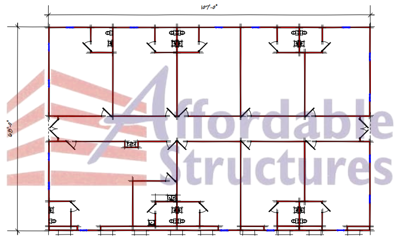 Nine Classroom School Building Floor Plan 294 10768