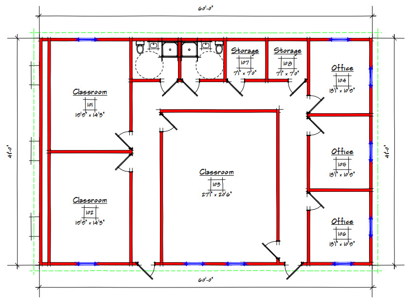Commercial Building Floor Plan 225 4160