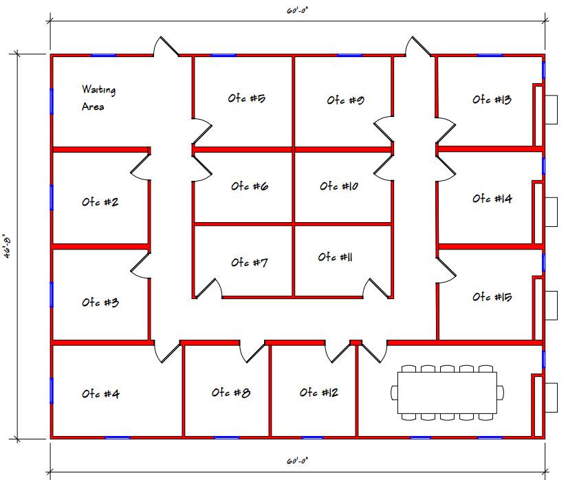 Commercial Building Floor Plan 606-4860