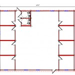 Commercial Building Floor Plan 641-4860