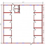 Commercial Building Floor Plan 642-6060