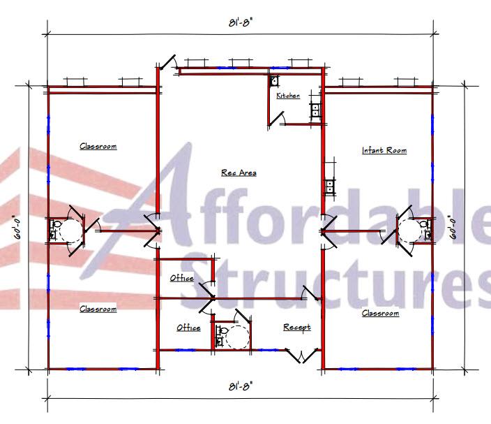 Daycare Floor Plan 428-8260