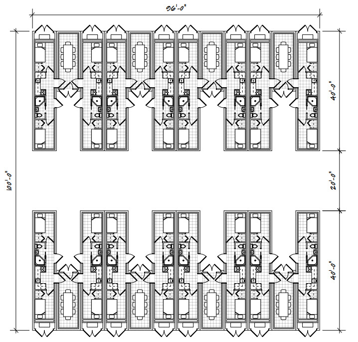 Camp Building Floor Plan 209-96100