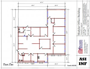 floor plan of modular classroom 10041