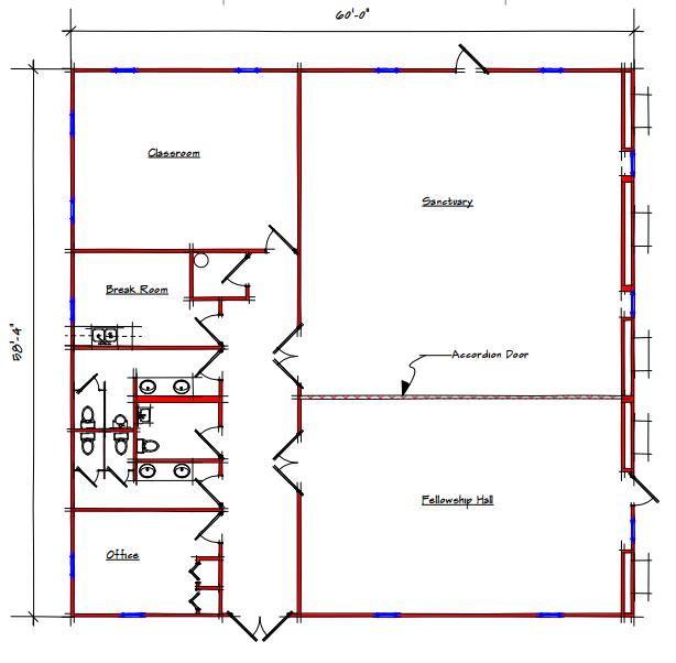 Sanctuary Floor Plan 313 5860