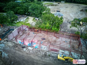 Pre-engineered Steel Building Construction Photos